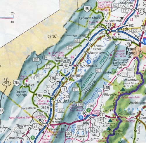 Map of Shenandoah County